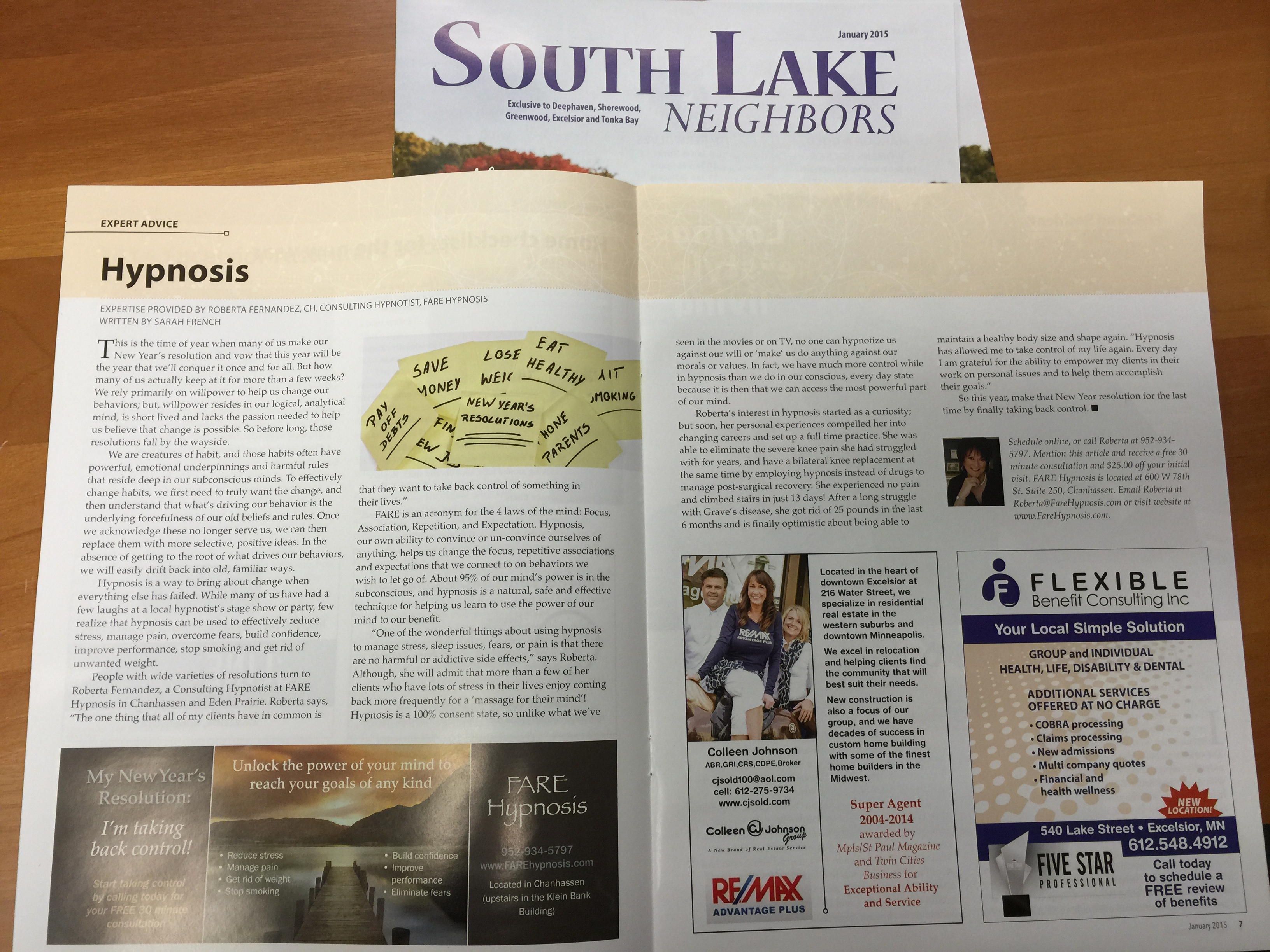 Southlake Magazine and FARE Hypnosis